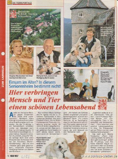 Haustiere Residenz Schloss Stetten, Mitbewohner Tiere Schloss Stetten, Hunde Katzen Residenz Schloss Stetten