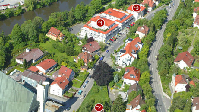 Residenz am Fluss, Haus Albert-Berner Residenz am Fluss, Haus Mechthild-Stein Residenz am Fluss, Haus Günther-Ziehl Residenz am Fluss