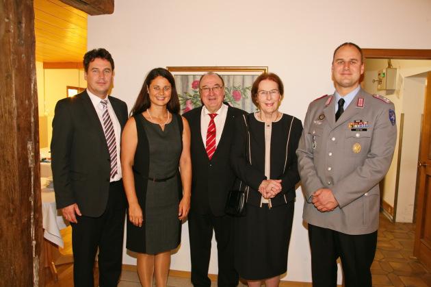 Familie v. Stetten v. l.: Christian, Dr. Franziska, Prof. Dr. Wolfgang, Silvia u. Richard v. Stetten
