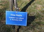 Elmar Rozitis Erzbischof von Lettland, Besuch Baum pflanzen, Schilder Besucher Schloss Stetten